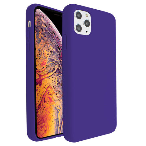Purple Silicona Case for iPhone 11