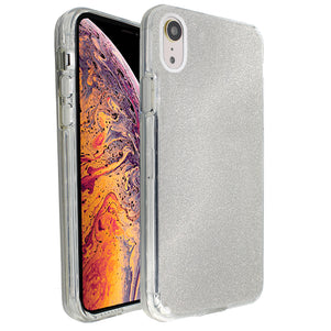 Silver Sparkle Ibrido Case for iPhone XR