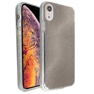 Grey Sparkle Ibrido Case for iPhone XR