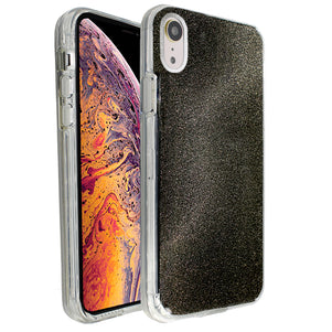 Black Sparkle Ibrido Case for iPhone XR