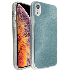 Blue Sparkle Ibrido Case for iPhone XR