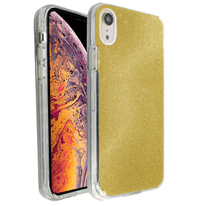 Yellow Sparkle Ibrido Case for iPhone XR