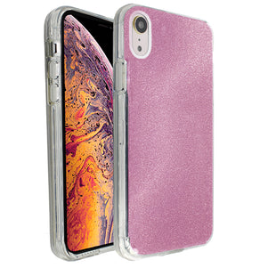 Rose Pink Sparkle Ibrido Case for iPhone XR