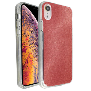 Red Sparkle Ibrido Case for iPhone XR