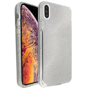 Silver Sparkle Ibrido Case for iPhone X/XS