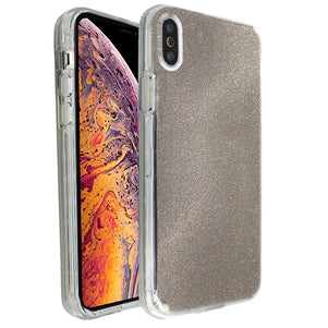 Grey Sparkle Ibrido Case for iPhone X/XS