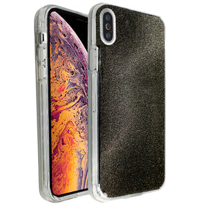 Black Sparkle Ibrido Case for iPhone X/XS