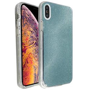 Blue Sparkle Ibrido Case for iPhone X/XS