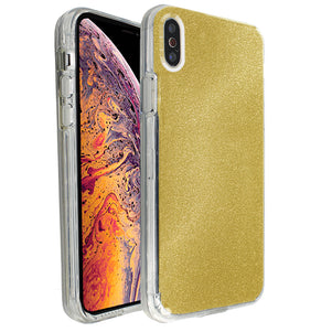Yellow Sparkle Ibrido Case for iPhone X/XS