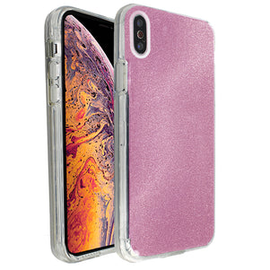 Rose Pink Sparkle Ibrido Case for iPhone X/XS