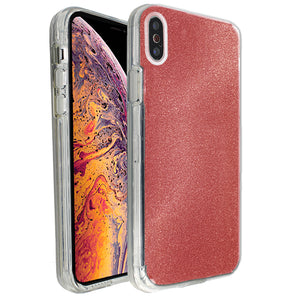Red Sparkle Ibrido Case for iPhone X/XS