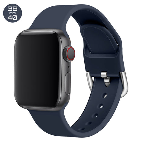 Dark Blue Silicone iWatch Band with D Buckle 38/40mm