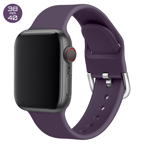 Purple Silicone iWatch Band with D Buckle 38/40mm