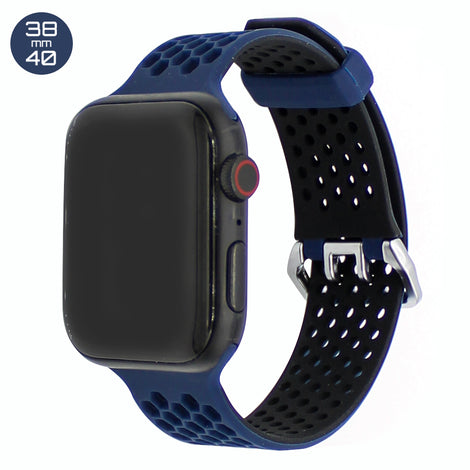 Dark Blue Honeycomb Silicone iWatch Band 38/40mm