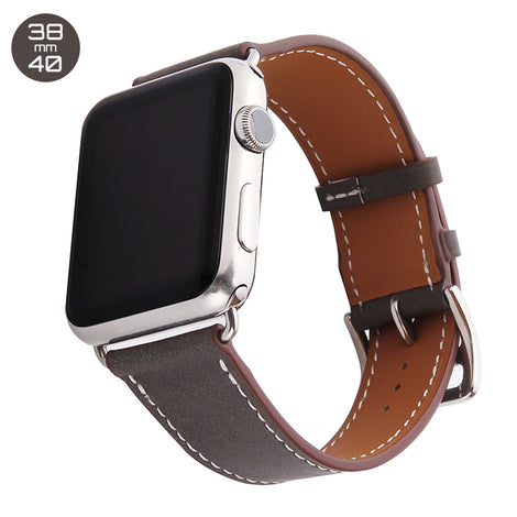 Brown Single Tour Leather iWatch Band 38/40mm