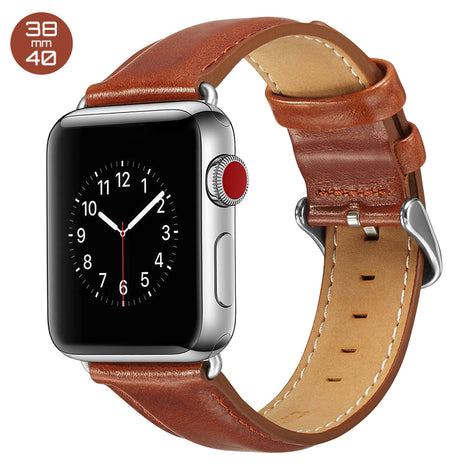 Brown Luxury Leather iWatch Band 38/40mm