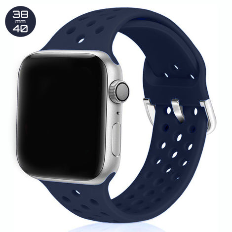 Dark Blue Breathable Silicone iWatch Band 38/40mm