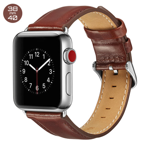 Dark Brown Luxury Leather iWatch Band 38/40mm