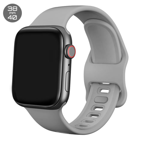 Grey Liquid Silicone iWatch Band 38/40mm