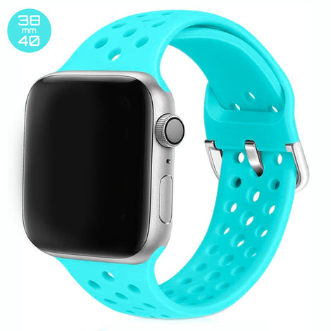 Light Blue Breathable Silicone iWatch Band 38/40mm