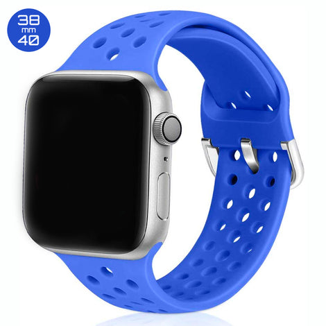 Ocean Blue Breathable Silicone iWatch Band 38/40mm