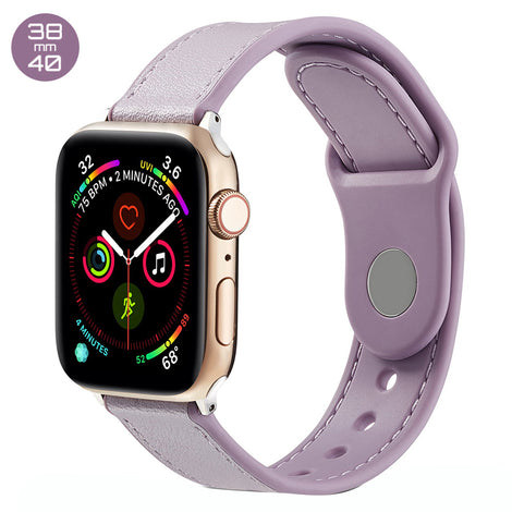 Purple TPU Leather iWatch Band 38/40mm