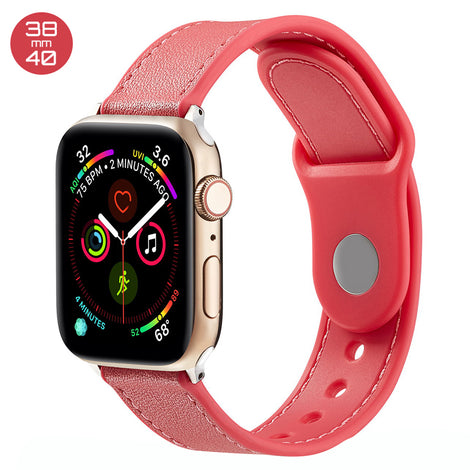 Red TPU Leather iWatch Band 38/40mm