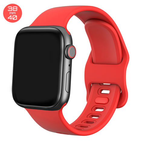 Red Liquid Silicone iWatch Band 38/40mm