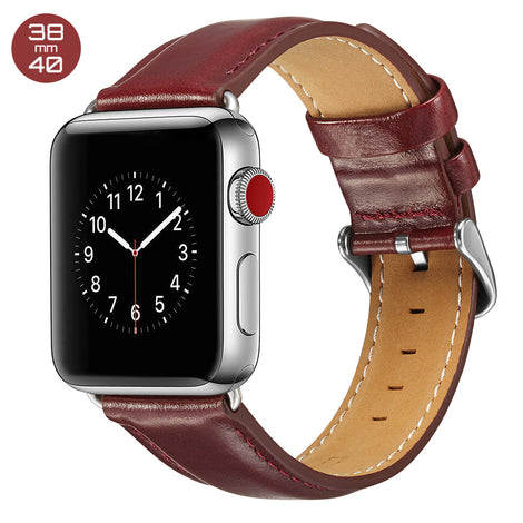 Red Luxury Leather iWatch Band 38/40mm