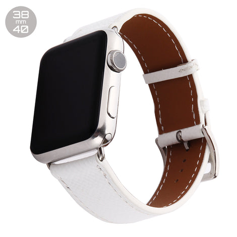White Single Tour Leather iWatch Band 38/40mm