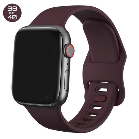 Wine Red Liquid Silicone iWatch Band 38/40mm