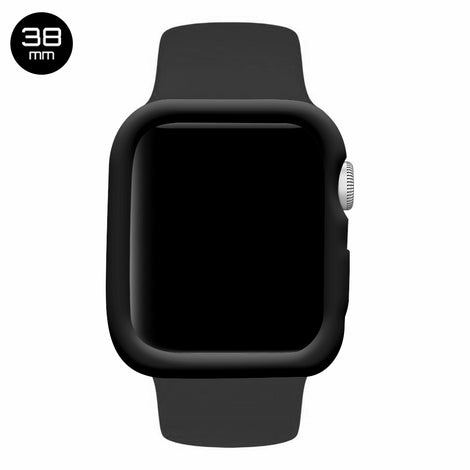 Black iWatch Silicone Case 38mm