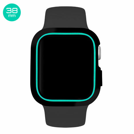 Black/Turquoise iWatch Silicone Case 38mm