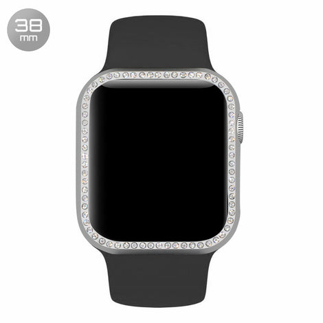 Silver Diamond Aluminum iWatch Case 38mm