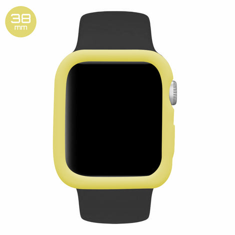 Yellow iWatch Silicone Case 38mm