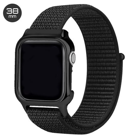 Black Nylon iWatch Band with Case 38mm