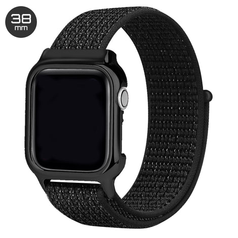 Reflector Black Nylon iWatch Band with Case 38mm