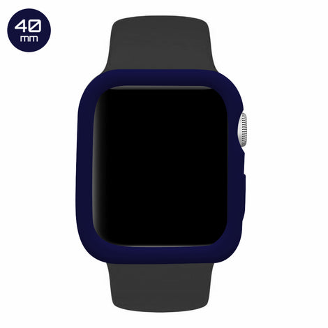 Blue iWatch Silicone Case 40mm
