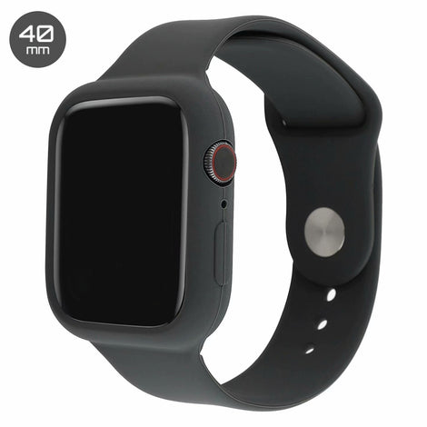 Dark Grey Silicone iWatch Band with Case 40mm