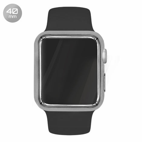 Silver TPU iWatch Case 40mm