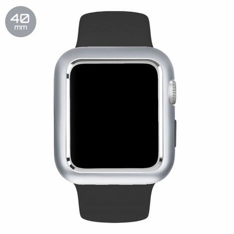 Silver Aluminum Magnetic iWatch Case 40mm