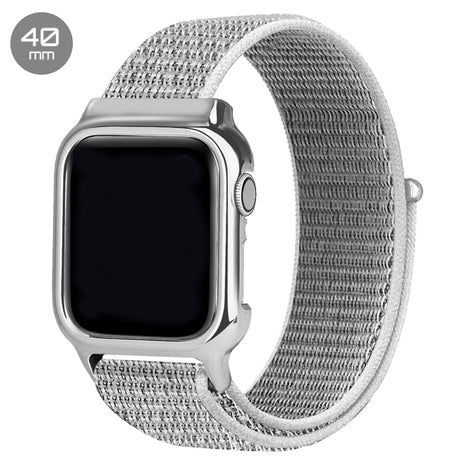 Seashell Nylon iWatch Band with Case 40mm
