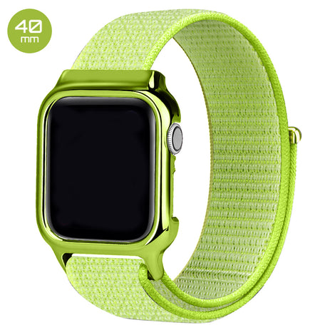 Yellow Nylon iWatch Band with Case 40mm