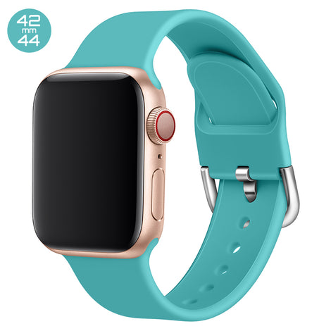 Blue Silicone iWatch Band with D Buckle 42/44mm