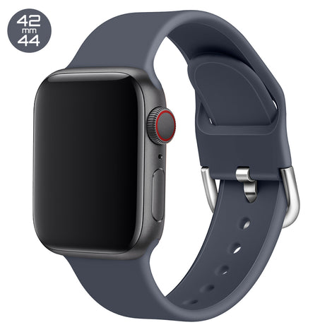 Slate Silicone iWatch Band with D Buckle 42/44mm