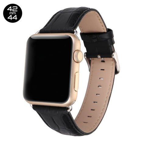 Black Crocodile Leather iWatch Band 42/44mm