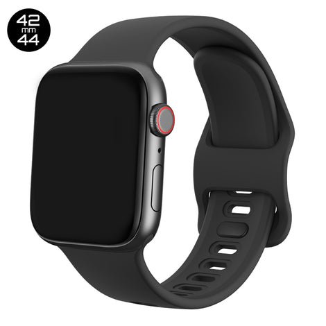 Black Liquid Silicone iWatch Band 42/44mm