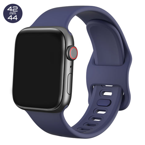 Dark Blue Liquid Silicone iWatch Band 42/44mm