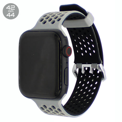 Grey Honeycomb Silicone iWatch Band 42/44mm