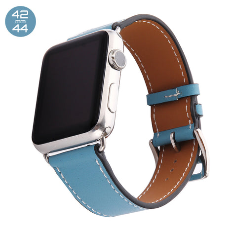 Light Blue Single Tour Leather iWatch Band 42/44mm